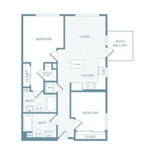 B03 | 2 bed 2 bath | from 929 square feet