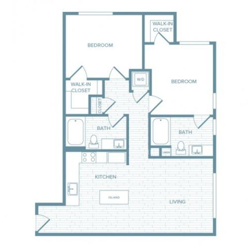 B05 | 2 bed 2 bath | from 1053 square feet