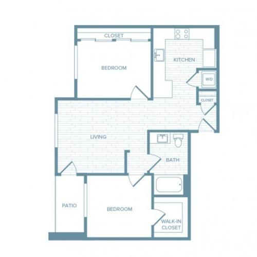B11 | 2 bed 1 bath | from 908 square feet