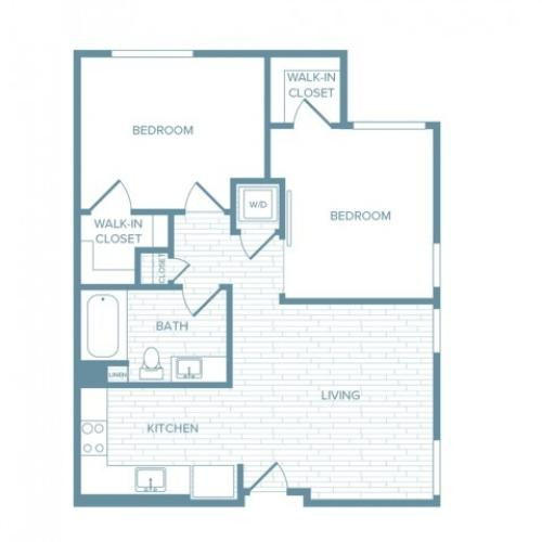 B10 | 2 bed 1 bath | from 855 square feet