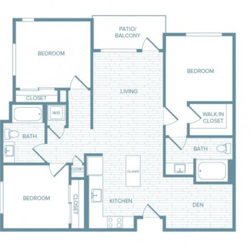 C01 | 3 bed 2 bath | from 1254 square feet