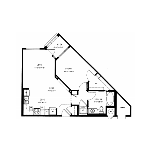 Blaze | 1 bed 1 bath | from 714 square feet