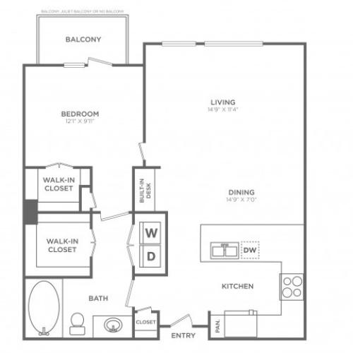 Glamorous | 1 bed 1 bath | from 860 square feet