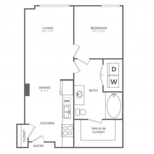 Dash | 1 bed 1 bath | from 610 square feet