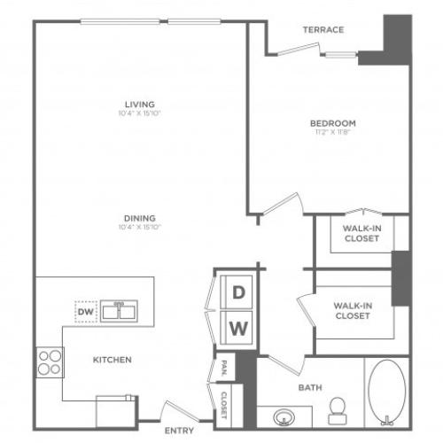 Debonair | 1 bed 1 bath | from 918 square feet