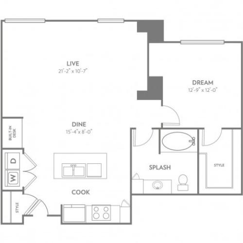 Vogue | 1 bed 1 bath | from 963 square feet