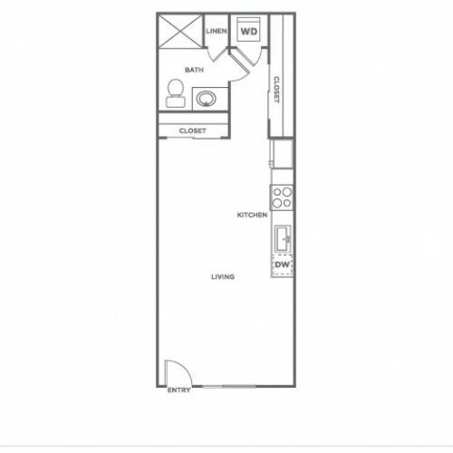 A6.1 | Studio1 bath | from 486 square feet