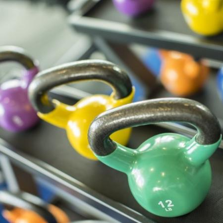 Fitness Center Bell Weights
