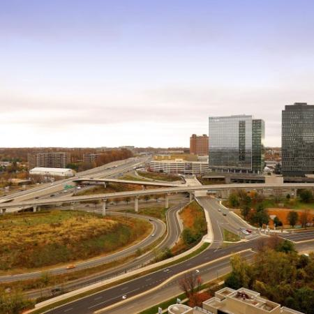 Aerial view of Tysons Corner