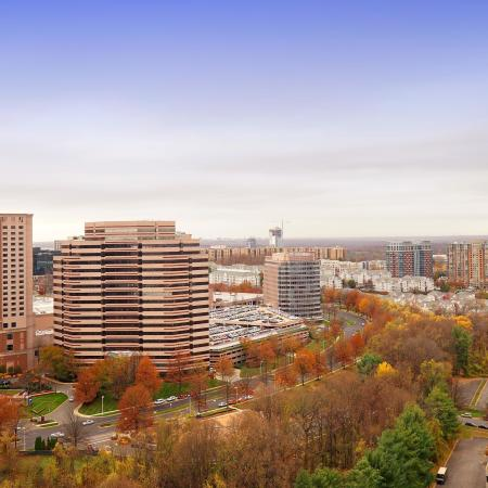 aerial view of mclean tysons corner