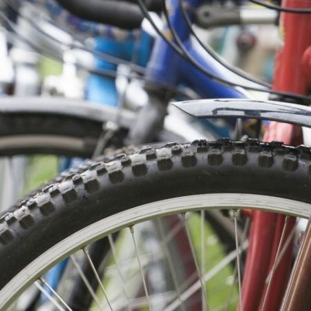 Bicycles on Racks