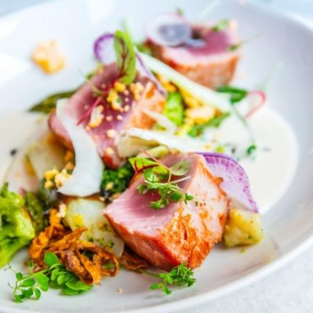 Fine Dining Plate with Seared Ahi Tuna