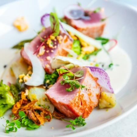 Fine Dining Dish with Seared Tuna