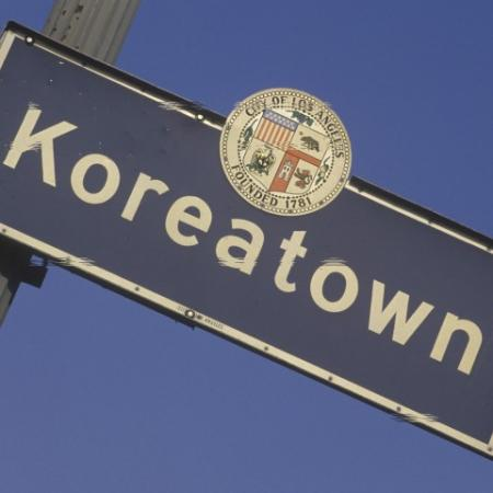 Koreatown Street Sign During the Day