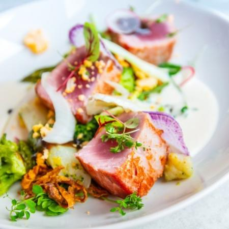 Fine Dining + Seared Ahi Salad
