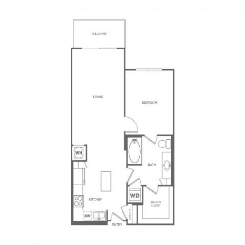 A1C | 1 bed 1 bath | from 747 square feet