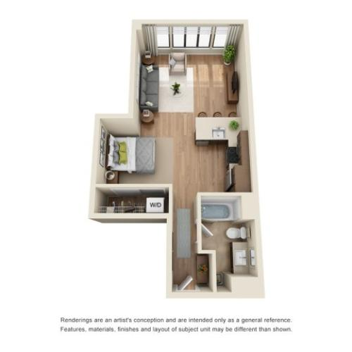 SP5R | Studio 1 bath | from 655 square feet