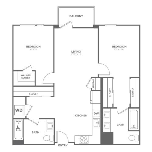 2C | 2 bed 2 bath | from 980 square feet