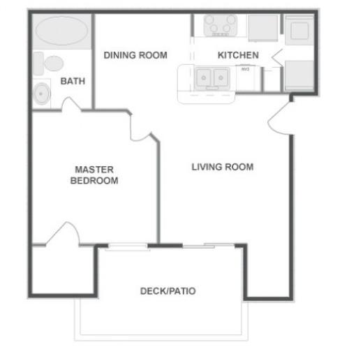 A2 - Classic | 1 bed 1 bath | from 643 square feet