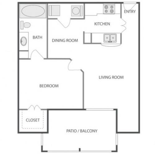 A2A Sophisticated | 1 bed 1 bath | from 695 square feet