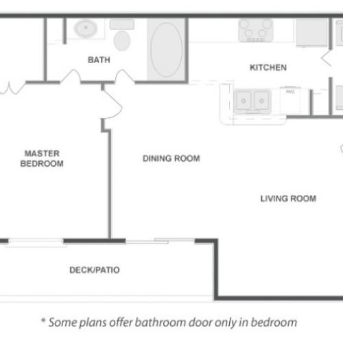 A3 - Sophisticated | 1 bed 1 bath | from 711 square feet
