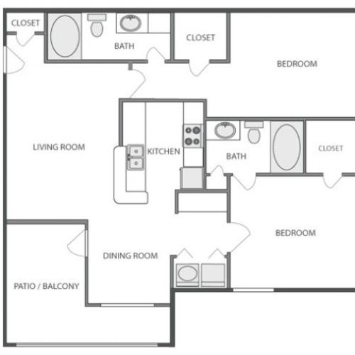 C4 - Classic | 2 bed 2 bath | from 1040 square feet