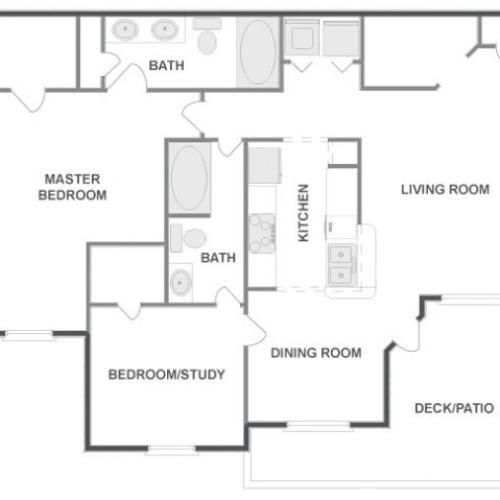 C4D - Tailored | 2 bed 2 bath | from 1099 square feet