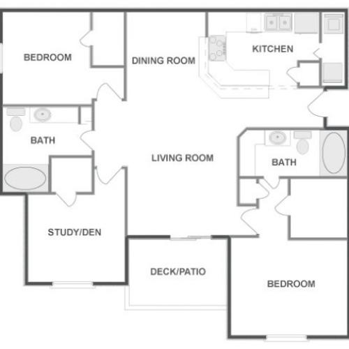 D3 - Classic | 3 bed 2 bath | from 1295 square feet