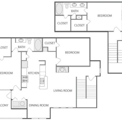 D6T - Sophisticated | 3 bed 2 bath | from 1595 square feet