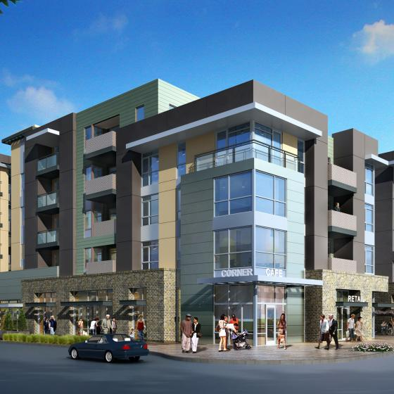 The Hudson Apartment Building Exterior Render