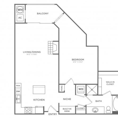 Ballston | 1 bed 1 bath | from 914 square feet