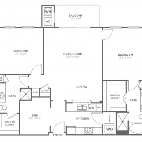 Dupont | 2 bed 2 bath | from 1255 square feet