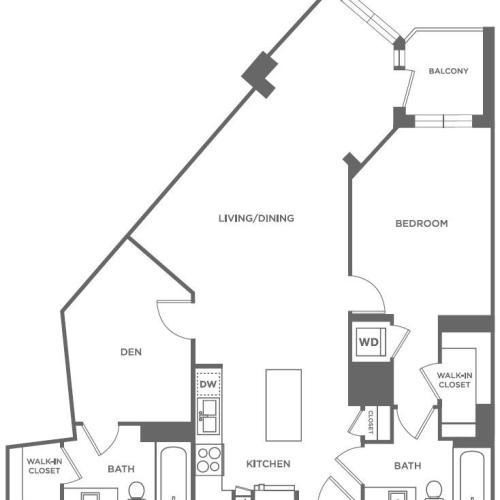A29 | 1 bed 1 bath | from 1,090 square feet