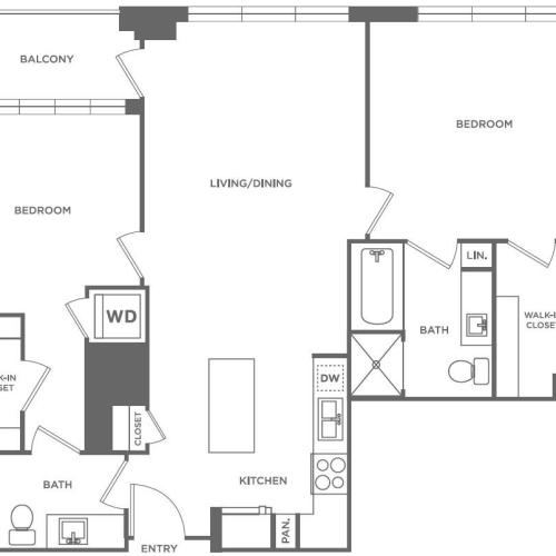 B2 | 2 bed 2 bath | from 1,084 square feet