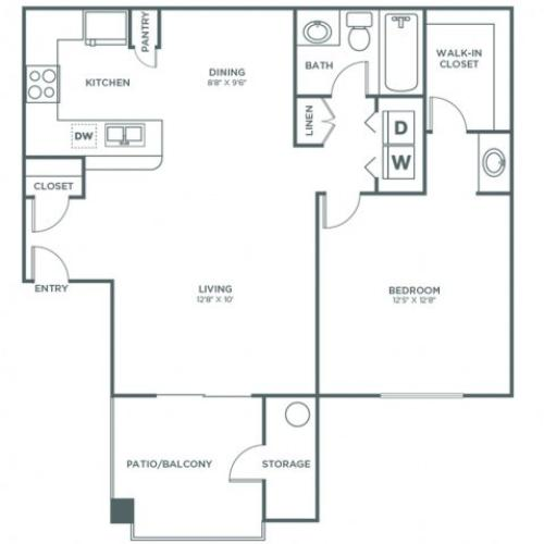1 Bedroom 1 Bath - Sophisticated