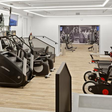Fitness Center Stair machine, bikes and treadmills