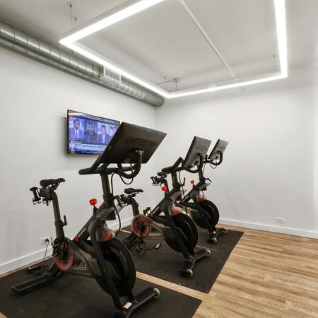 bikes in fitness center