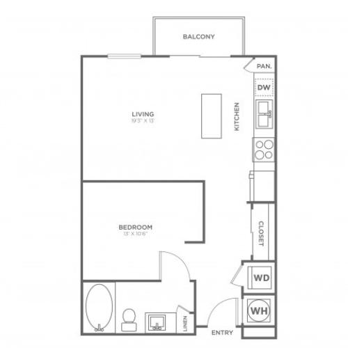 S1 | Studio1 bath | from 670 square feet