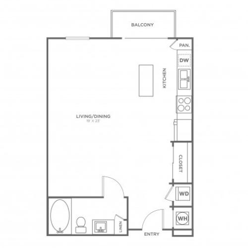S2 | Studio1 bath | from 674 square feet