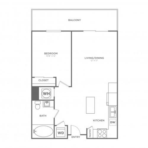 A3 | 1 bed 1 bath | from 706 square feet