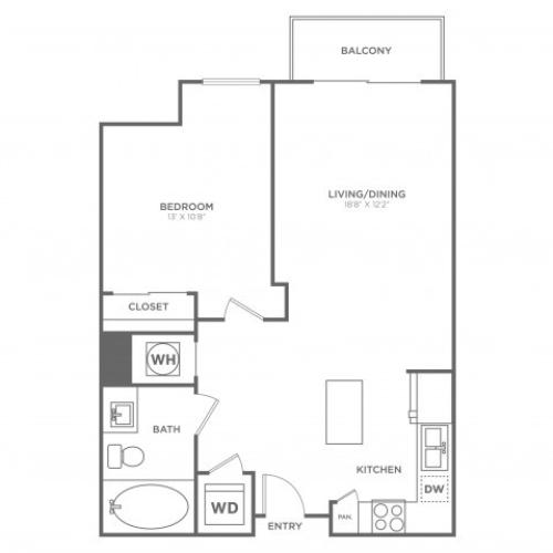 A5 | 1 bed 1 bath | from 722 square feet
