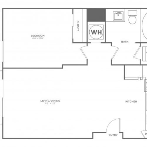 A6 | 1 bed 1 bath | from 731 square feet