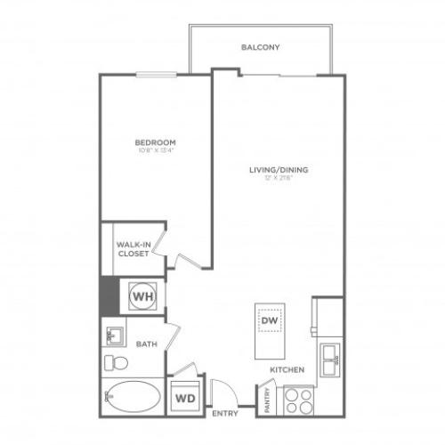 A8 | 1 bed 1 bath | from 800 square feet