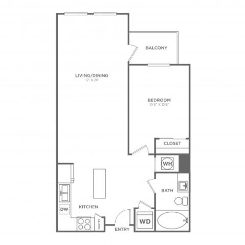 A9 | 1 bed 1 bath | from 817 square feet