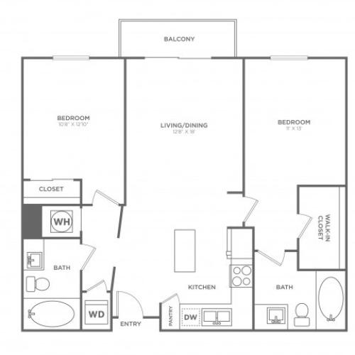 B2 | 2 bed 2 bath | from 1060 square feet