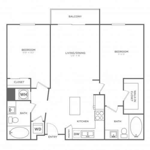 B4 | 2 bed 2 bath | from 1069 square feet