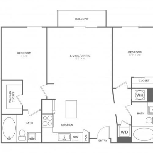 B8 | 2 bed 2 bath | from 1190 square feet