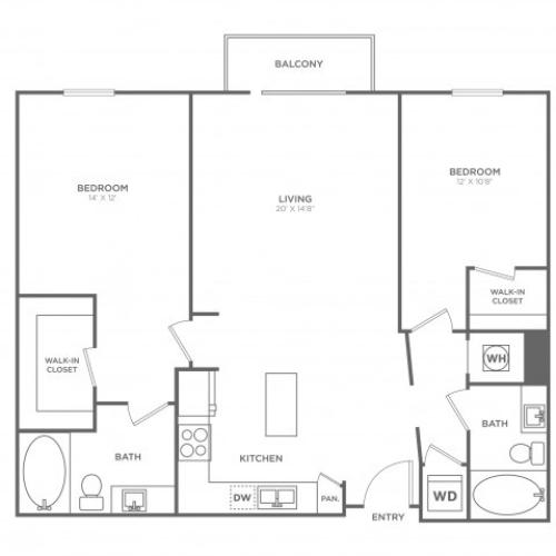 B10 | 2 bed 2 bath | from 1213 square feet