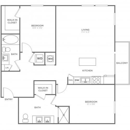 BC3 | 2 bed 2 bath | from 1246 square feet