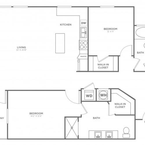 BC4 | 2 bed 2 bath | from 1355 square feet